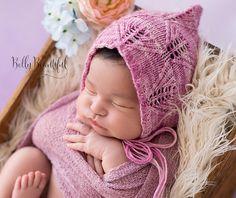 Ravelry: Lacy Leaf Bonnet ~ Knit Version pattern by Melody Rogers