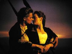 """Most Famous Kisses - 'Titanic' - Rose (Kate Winslet) and Jack (Leonardo DiCaprio) share a kiss aboard the doomed ship in the 1997 hit """"Titanic."""" Winner of eleven Oscars, it was the first film to earn more than a billion worldwide. Kate Winslet And Leonardo, Kissing Scenes, Best Kisses, Kissable Lips, World Famous, Leonardo Dicaprio, Movie Tv, All About Time, How To Memorize Things"""