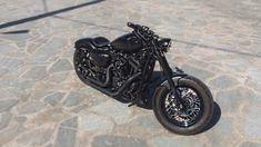 Harley Davidson 883 custom  '10 mat black Vans and Hines  rsd air filter