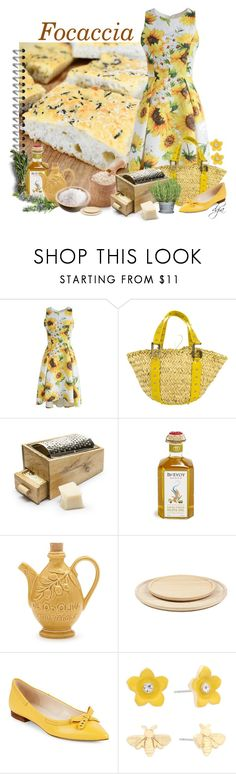 """F... like Focaccia!!!!"" by dgia ❤ liked on Polyvore featuring Chicwish, Dolce&Gabbana, Sagaform, Sur La Table, Cole Haan, Liz Claiborne and kitchen"