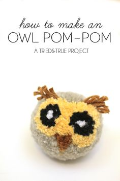 Make your own owl pompom with this tutorial from @modpodgerocks.