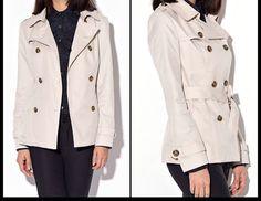 Short trench coat for women casual women jacket coat by Lixmee