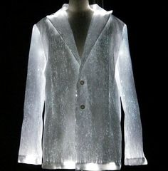 LumiGram, Luminous clothes, fiber optic clothes, illuminated clothing, fiber optic fabric, luminous fabric, Vetements lumineux, tissu fibre optique, tissu lumineux