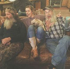 Phil, Sadie, and Uncle Si Robertson Family, Sadie Robertson, Girls Dream, Girls Be Like, Jep And Jessica, Miss Kays, West Monroe, Quack Quack, Duck Commander