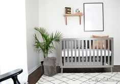 A simple, modern and gender neutral nursery.