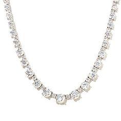 126-365 - Charlie Lapson for Brilliante® Platinum Embraced™ Graduated Tennis Necklace