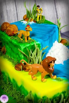Lion Guard Cake by Mulberry Cottage Cakes
