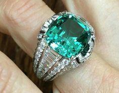 Louis Vuitton Conquêtes ring features a 9.78-carat tourmaline and diamonds