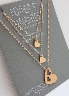 Mutter-Tochter-Collier-Set Geschenk zum Muttertag von carriesaxl
