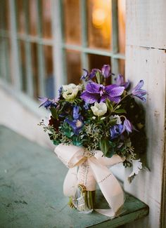 purple wedding bouquet // photo by Redfield Photography // flowers by Xylem & Phloem