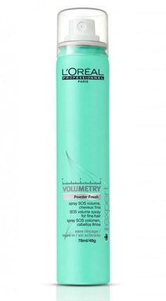 Spray SOS volumen, de la Línea Volumetry de L'oreal Professionel. Para pelo fino. 17 euros.