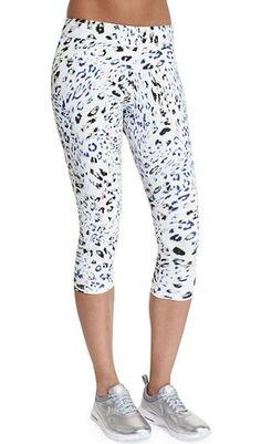 084fae9c04b5d Varley Pico Cropped Sport Leggings, Leopard - Varley
