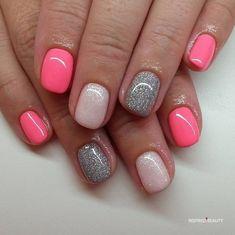 Shellac Nail Designs, Gel Nail Colors, Acrylic Nail Designs, Nail Manicure, Gel Nail Art, Acrylic Nails, Manicure Ideas, Nail Ideas, Nails Design