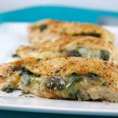 Brie, Spinach, and Fig Preserve Stuffed Chicken Breasts @keyingredient #cheese #chicken