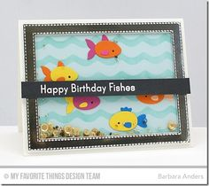 You're Fin-tastic, Fishbowl Die-namics, Stitched Rectangle Frames Die-namics, Wves Stencil - Barbara Anders  #mftstamps