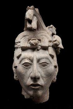 Cabeza masculina de Palenque 600 - 900 -  Museo Nacional de Antropología, México