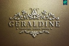 Geraldine - Luxury Feminine Logo by PenPal on @creativemarket