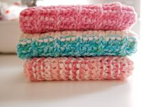 ProjectFour14:  My Favorite Knit Washcloth Pattern