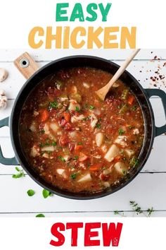 This is such a great dinner idea! Healthy and easy Oven Chicken Stew for the win! The whole family loves this easy and healthy dinner.