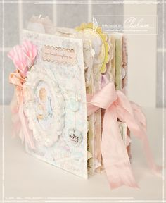 Crafting Life's Pieces: Sugar & spice & everything nice - Shabby chic baby album