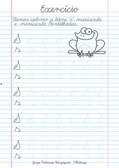 Blog Educação e Transformação: 👍Caligrafia: alfabeto e números English Worksheets For Kindergarten, Homeschool Worksheets, Printable Worksheets, Teaching Cursive Writing, Cursive Writing Worksheets, Preschool Education, Preschool Learning, Phonics Lessons, Tracing Letters