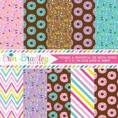 Donuts Digital Paper Pack – Erin Bradley/Ink Obsession Designs