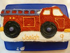 Fireman Birthday Party | cake