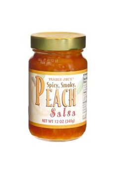 The Best Trader Joe's Products Of All Time #refinery29  http://www.refinery29.com/best-trader-joes-food-products#slide-17  Spicy, Smoky, Peach SalsaThe name of this salsa says it all, because it really is spicy, smoky, and sweet. It's much more exciting than your typical supermarket options of mild, medium, or spicy....