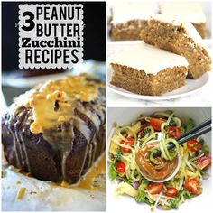 3 peanut butter zucchini recipes to knock your socks off this summer! Zucchini Squares, Zucchini Bars, Easy Zucchini Bread, Chocolate Zucchini Bread, Zucchini Bread Recipes, Chocolate Peanut Butter, Yummy Treats, Yummy Food, Almond Joy Cookies