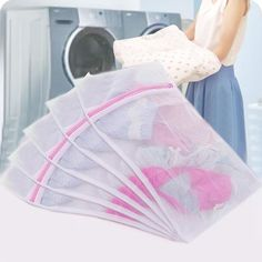 5 Pcs Mesh Net Laundry Bags Bra Lingerie Socks Underwear Washing Drying Bags