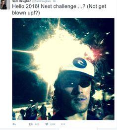 Sam's New Year Tweet