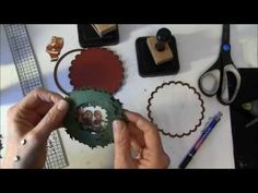 Tim Holtz Holiday wreath circle card tutorial