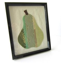A great accesory for any home.The design I used for this picture is a patchwork pear made from a variety of fabrics in different textures and shades of White Clutch, Different Textures, Etsy Shipping, Shades Of Green, All Pictures, Pear, Sewing Crafts, My Etsy Shop, Sparkle