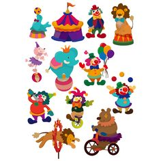 Cartoon Circus Clown & Animal Acts - http://www.welovesolo.com/cartoon-circus-clown-animal-acts/