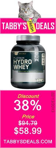 Optimum Nutrition Platinum Hydro Whey $58.99