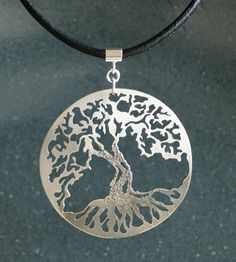 Igor's Beautiful work with a saw! Tree of Life Sterling Silver Pendant With Greek by IntricateCuts, $70.00