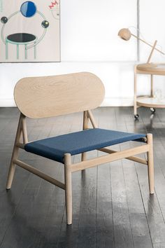 Ferdinand Lounge Chair, Oak soaped, with Kvadrat seat