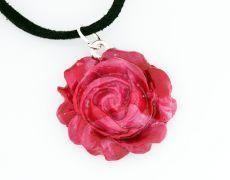 Medalion hand-made Fimo - Trandafiri