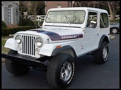 I had one in Brown, 83' with the 2.5lt 4cyl, with headers and a 4 speed stick.  aT132 1976 Jeep CJ-7 Renegade Levi Edition 304 CI, 3-Speed Photo 1