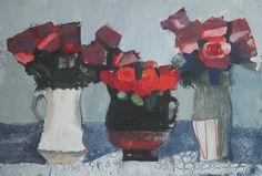 Artworks by Mhairi McGregor RSW at Lime Tree Gallery in Suffolk & Bristol, England Three Roses, Glasgow School Of Art, Artist Bio, New Artists, Art Fair, Contemporary Artists, All Art, Flower Art, Art Gallery