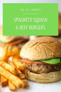 Sneaking vegetables into dinner time has never been so easy. See how to sneak spaghetti squash into burger night for delicious flavor. Quick Dinner Recipes, Quick Easy Meals, Lunch Recipes, Beef Recipes, Healthy Recipes, Healthy Meals, Easy Recipes, Delicious Recipes, Recipies