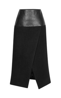 Shop Winter Wool Wrap Long-Line Skirt by Josh Goot for Preorder on Moda Operandi