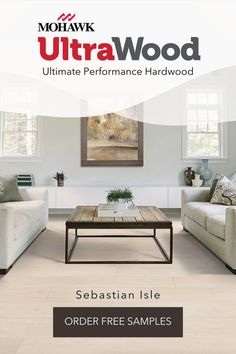 Need hardwood floor ideas? UltraWood is our ultimate performance hardwood line making it perfect for any room in your house. These textured hardwood floors are waterproof, easy to clean, and five times more dent proof. UltraWood comes in a variety of colors so you can find the best new flooring for your home. Make it feel like home with this beautiful flooring.