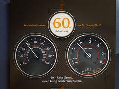 Einladung 60. Geburtstag im Auto-Design