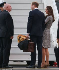 Duke and Duchess of Cambridge and Prince George kick off Royal Tour of Australia and New Zealand. April 6, 2014.