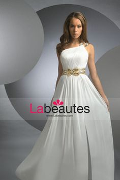 A Line Chiffon Evening Dresses $ 154.99 LPQ29563P - Labeautes.com