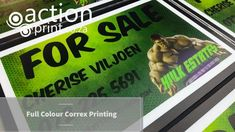 Photo quality full colour real estate correx board printing. No minimum. No setup fees. Real Estate Signs, Us Real Estate, Real Estate Agency, Cheap Advertising, Advertising Signs, Event Signage, Outdoor Signage, Corrugated Plastic Signs, Photo Direct