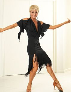 Je Dor Shayla Split Fringe Latin Dress H3277