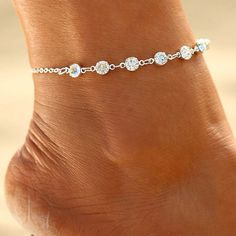7cd818b35 Wholesale Accessories Ebay Diamond Beach Anklets Female ( 1.17 pc) from  Import-Express