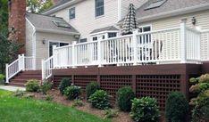 Superb Deck Design Cool Deck Skirting Ideas for Every Home & Yard Cool Deck, Diy Deck, Under Deck Storage, Outdoor Storage, Lattice Deck, Square Lattice, Lattice Wall, Country Backyards, Deck Skirting